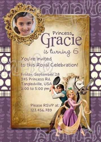 Tangled birthday invitation rapunzeltangled party pinterest tangled birthday invitation filmwisefo