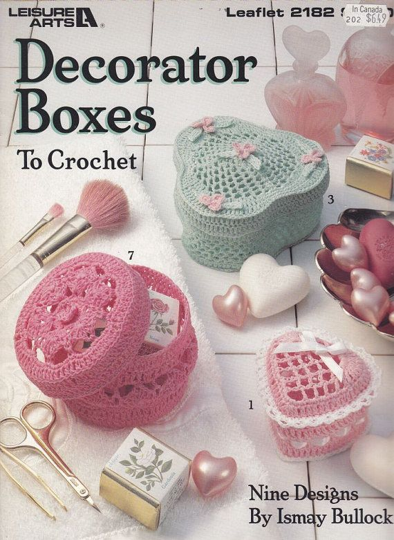 Decorative Boxes Crochet Patterns 40 Designs Heart Oval And Mesmerizing Decorator Boxes