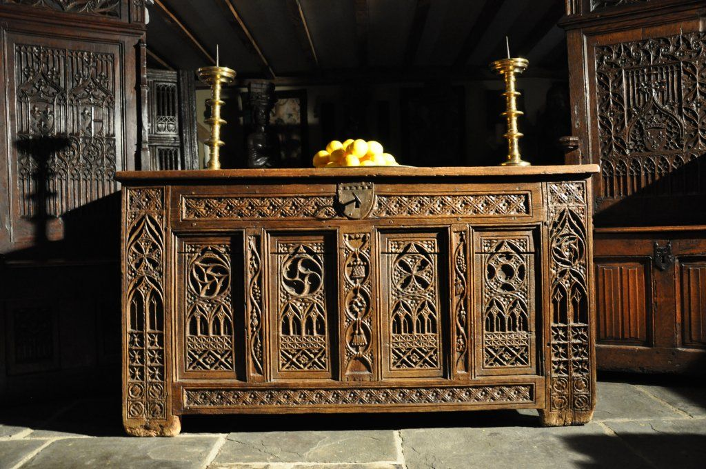 About us english antique oak gothic furniture uk for Medieval living room furniture