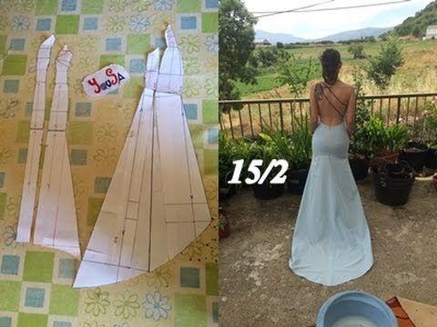 CROCHET IRLANDES- Vestido de novia Tutorial 1 - YouTube