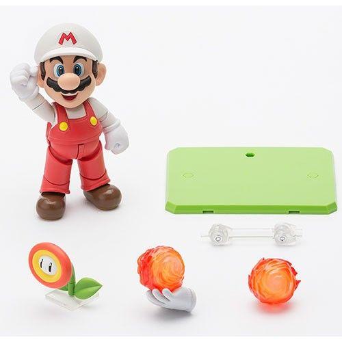 "S.H. Figuarts Fire Mario 4"" Action Figure | ToyZoo.com"