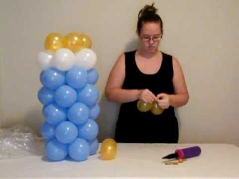 How to make balloon baby bottle youtube baby shower for Balloon decoration ideas youtube