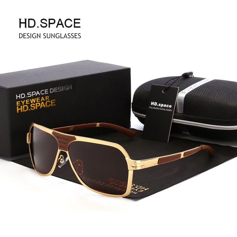 036998560e HD.SPACE Polarized men Sunglasses Classical Fashion Brand designer UV400  Driving gafas Sun glasses oculos de sol masculino