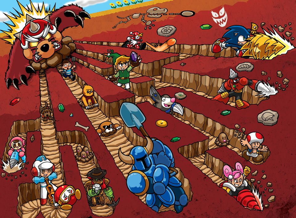 The Diggers of NIntendo by Thormeister on DeviantArt