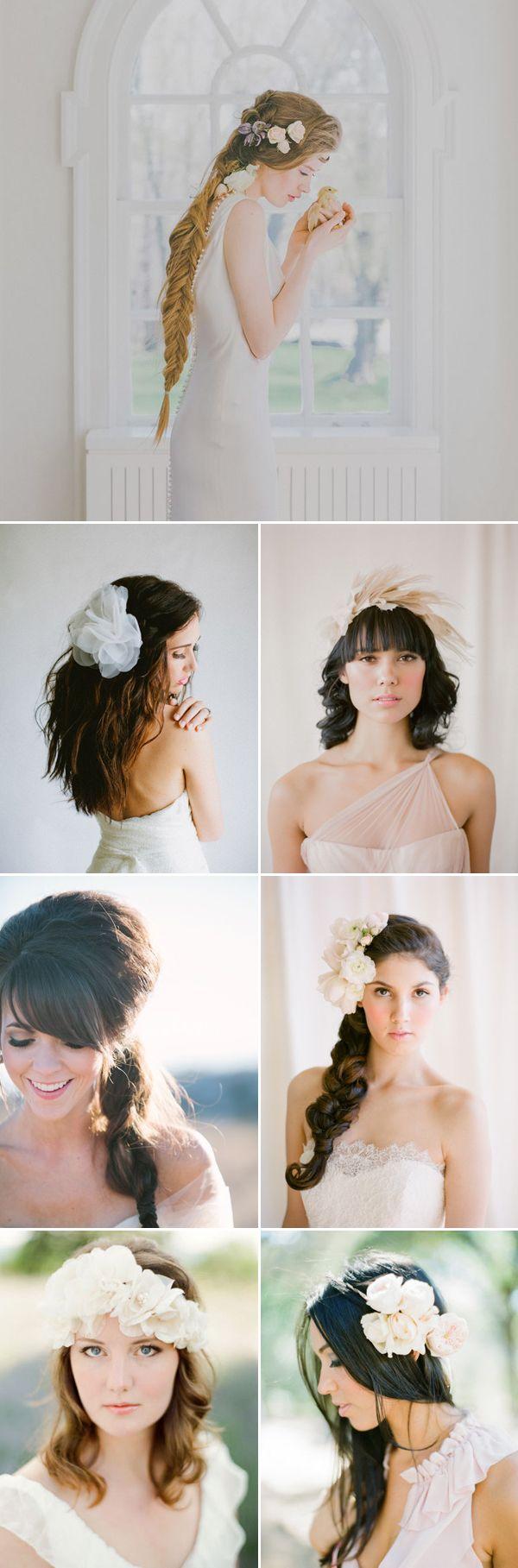 27 Beautiful Summer Bridal Hairstyles | Bridal hairstyle, Romantic ...