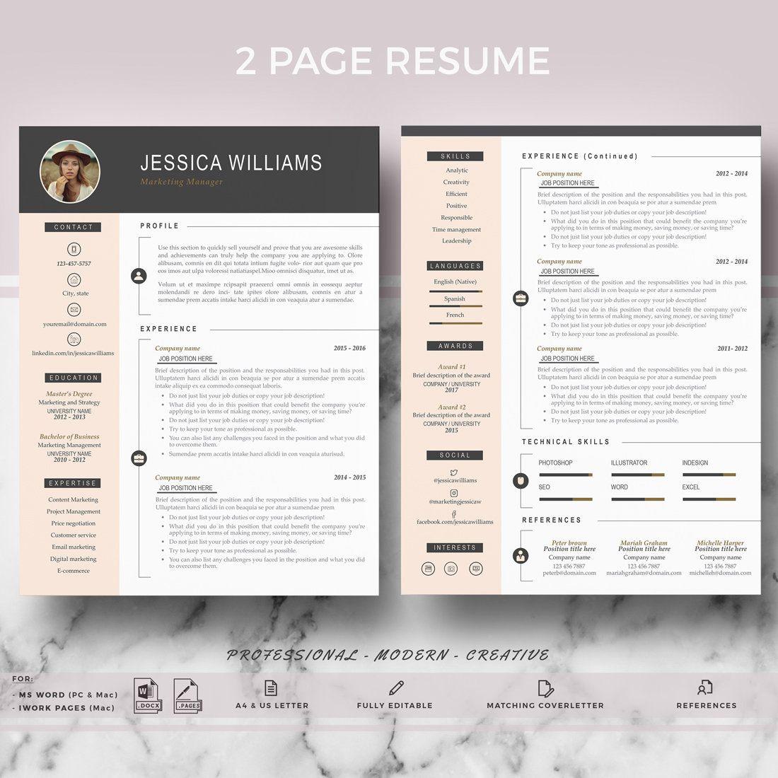 Free Simple Resume Cv Templates Word Format 2020 Resumekraft In 2020 Free Resume Template Download Infographic Resume Template Cv Template Free
