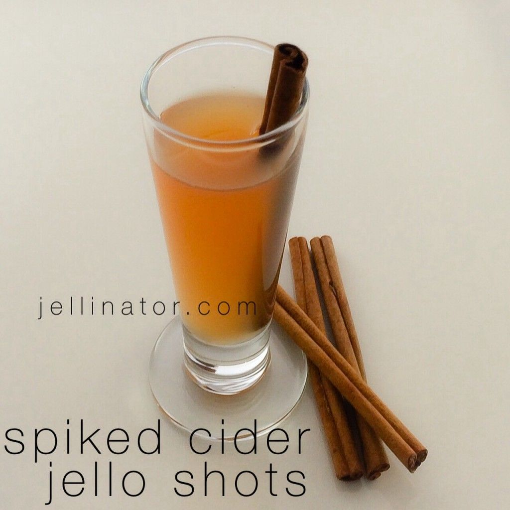 Spiked Cider Jello Shots With Fireball Whiskey