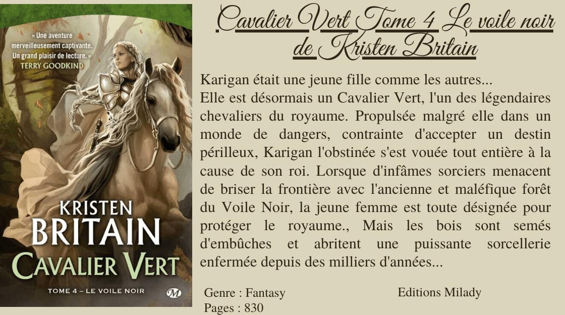 Cavalier Vert T4 Le Voile Noir De Kristen Britain In 2020 Tome Voiles Books