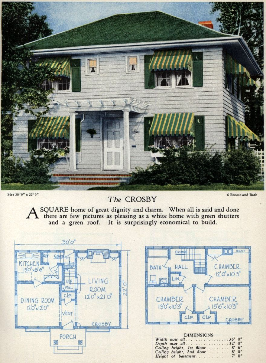 American home designs - The Crosby - Click Americana | House and ...