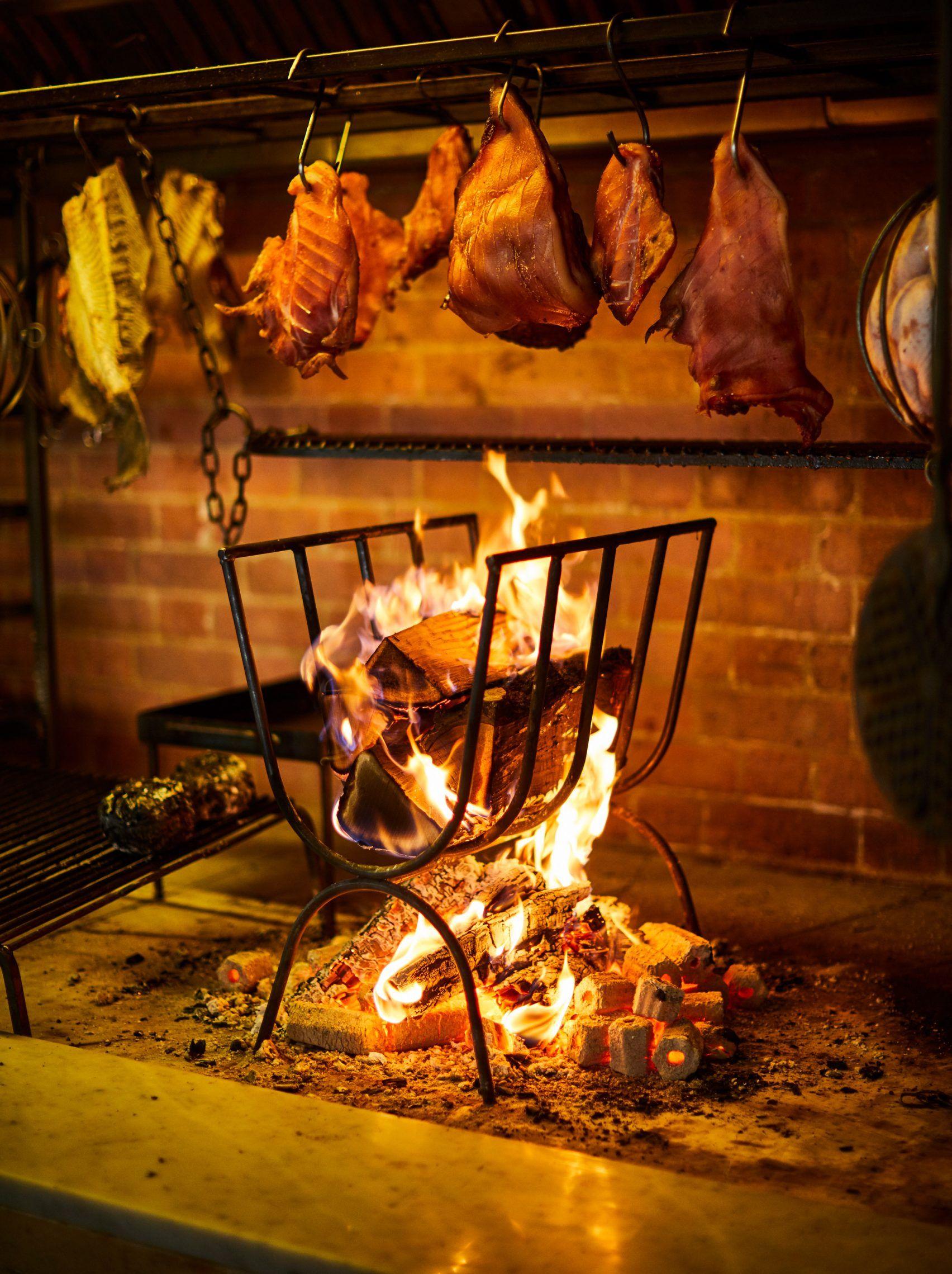St Leonard S Restaurant Open Fire Cooking Fire Cooking Fireplace Cooking