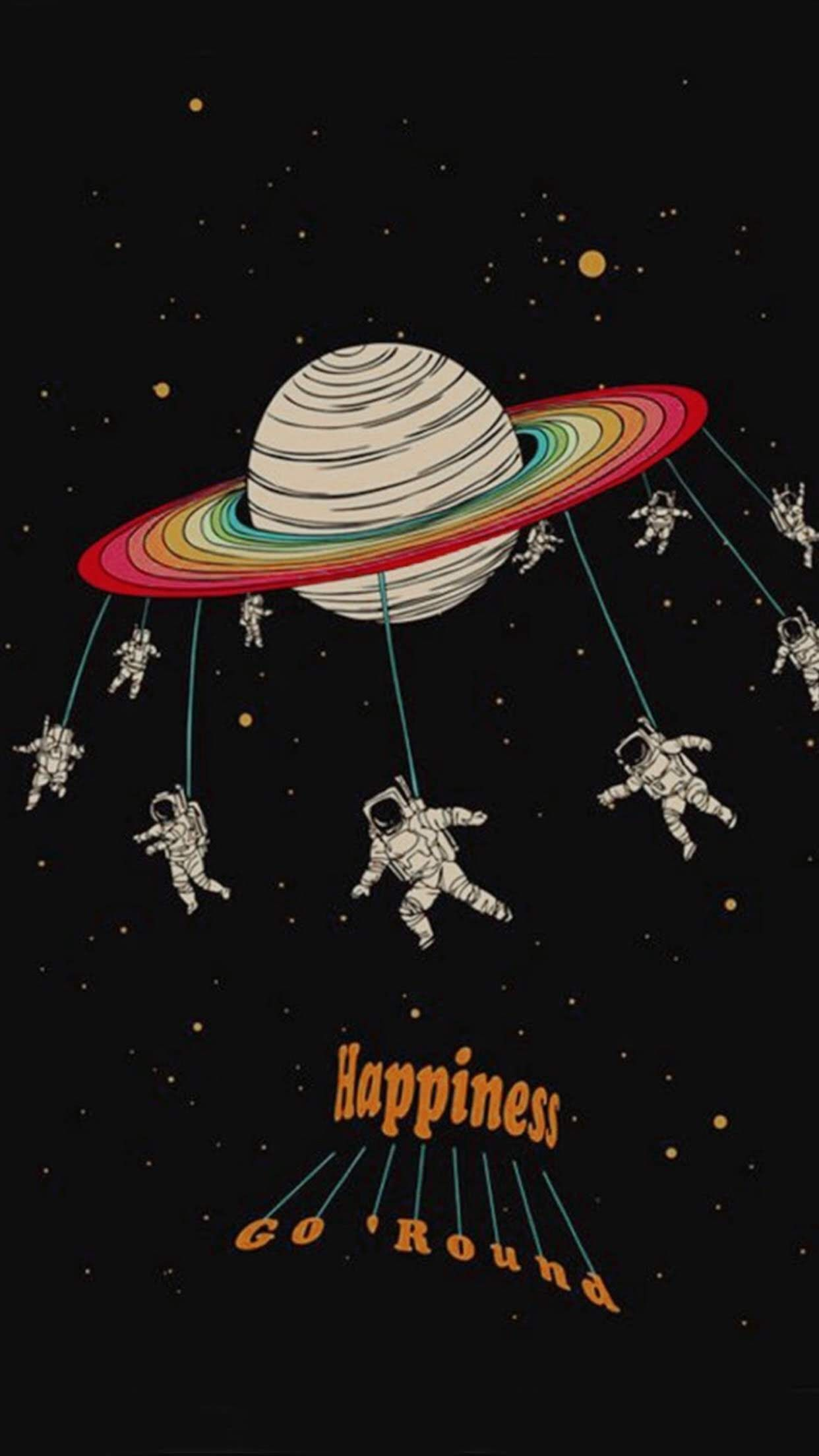 Happiness Go Round Iphone Wallpaper Art Aesthetic Wallpapers