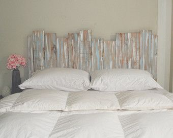 King Distressed Headboard Etsy