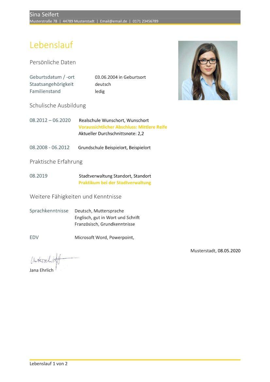 Bewerbungsvorlagen 140 Gratis Download Vorlagen Schulische Ausbildung Englischer Lebenslauf Vorlage Bewerbung Lebenslauf Vorlage