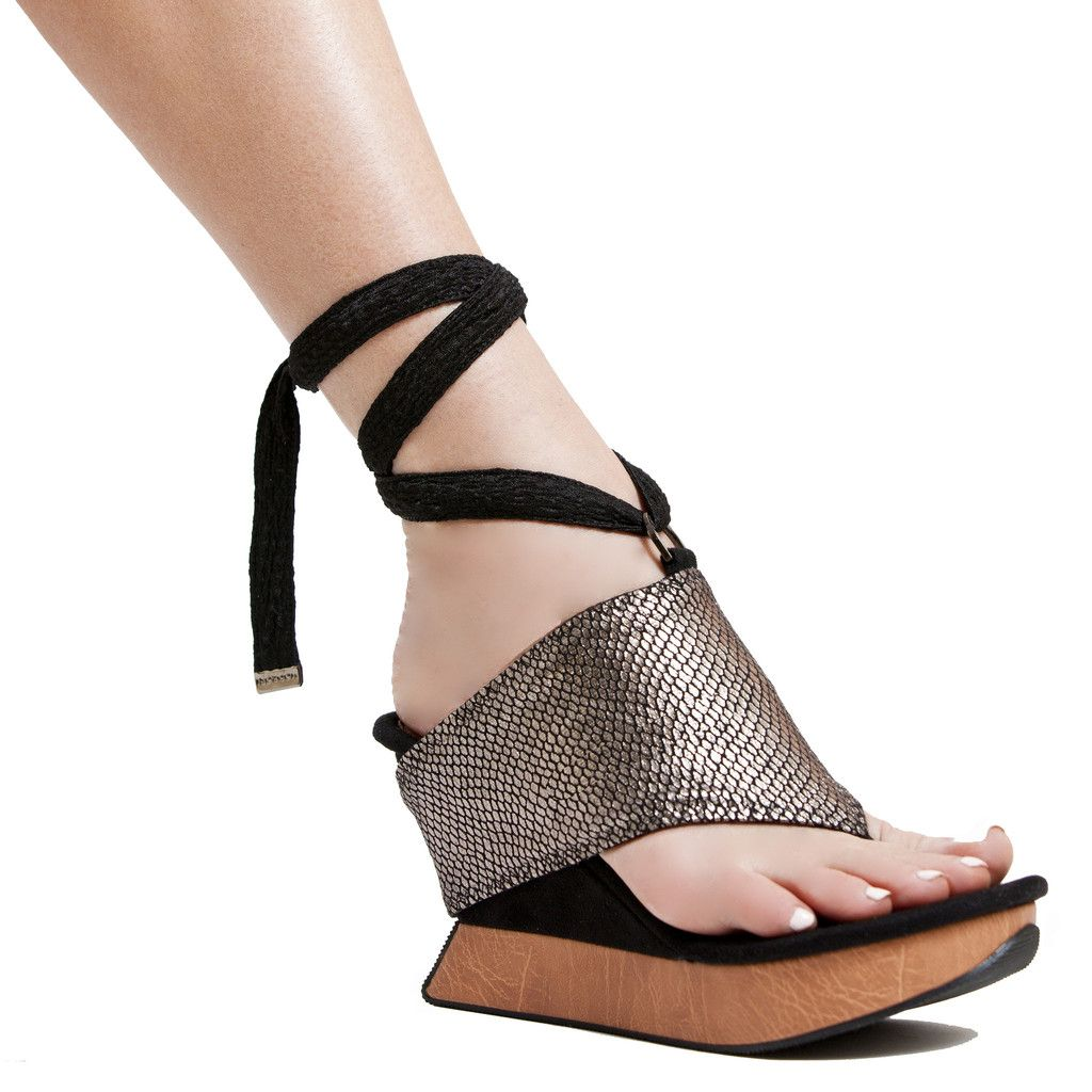 Nespresso Women's High Wedge Twister Sandal