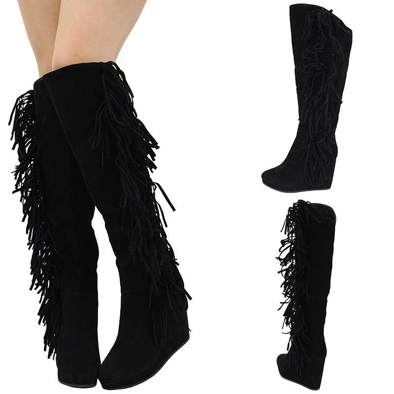 edca26ad7 Black Leather Flat Women Motorcycle Thigh High Boots