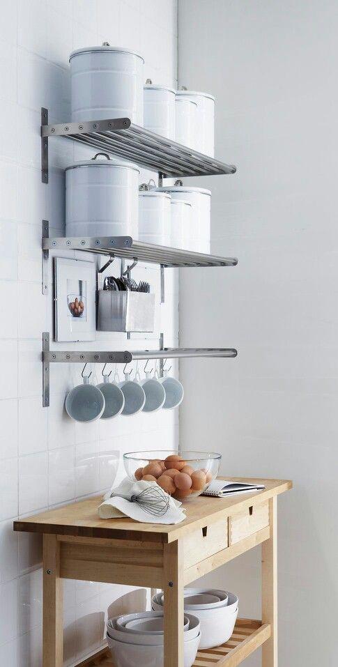 Neat And Clean Kitchen Wall Storage Kitchen Hacks Organization