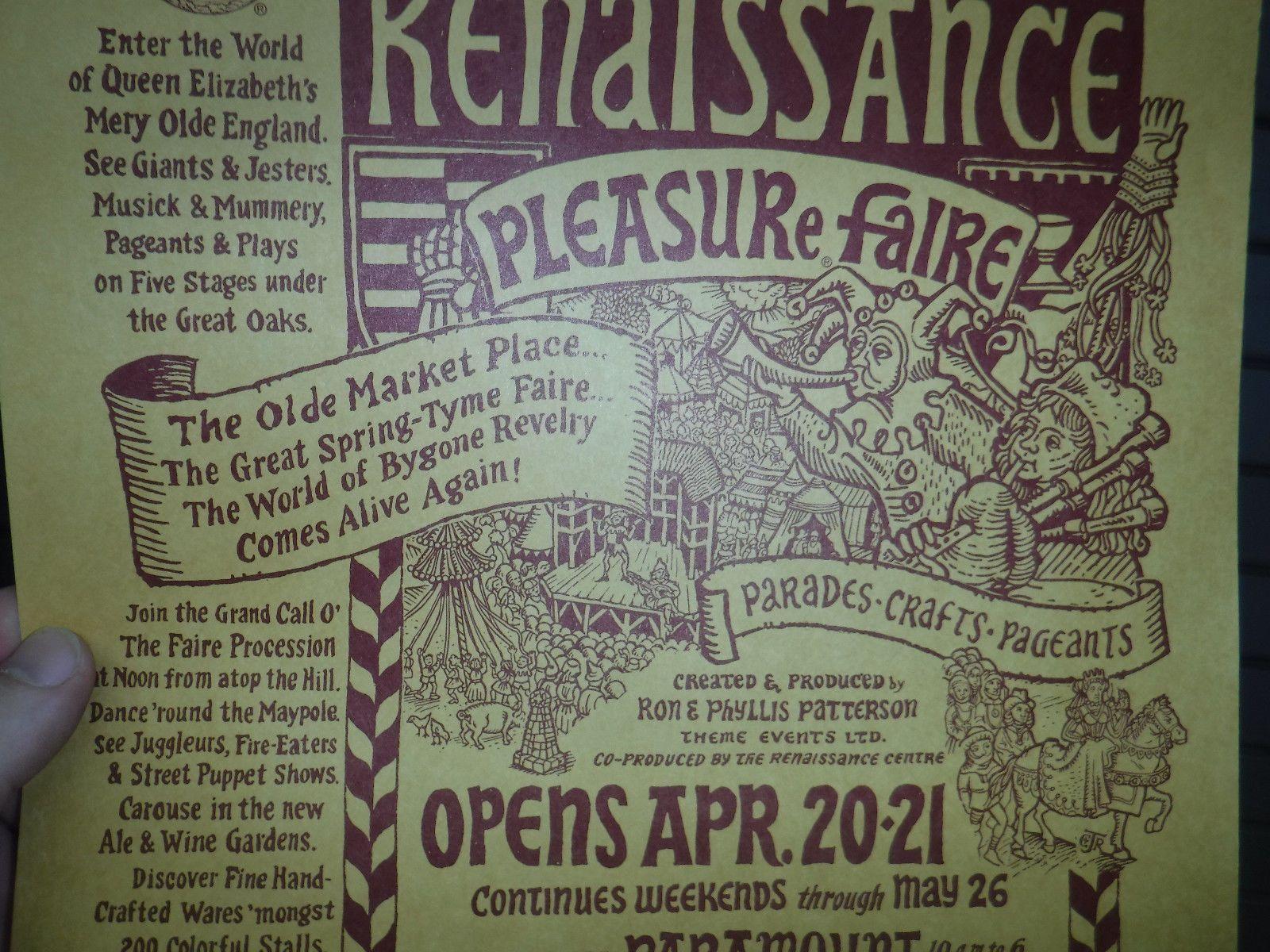 1974 Renaissance Faire Flier Paramount Ranch