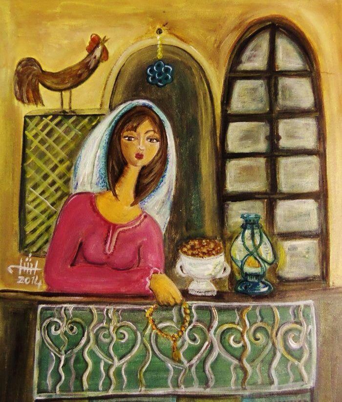 Iraqi artist Rasha Okab - iftar time (Ramadan) وقت الفطور
