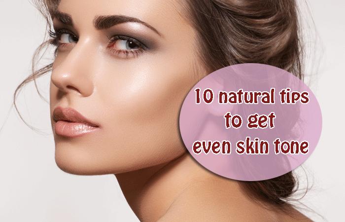 even skin tone