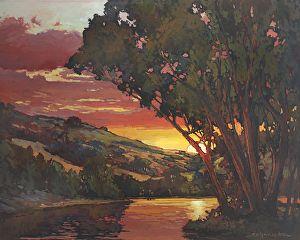 Daily Art Show (01/16/2013) - Crimson Flush Of Sunset Skies by Jan Schmuckal | FASO http://dailyartshow.faso.com/20130116/1069087