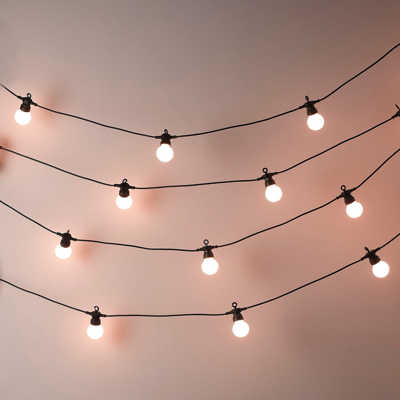 Light Bulbs On A String Interesting Bistro Bulb Fairy Lights 20 Bulbs  The White Company  Shae's Decorating Design