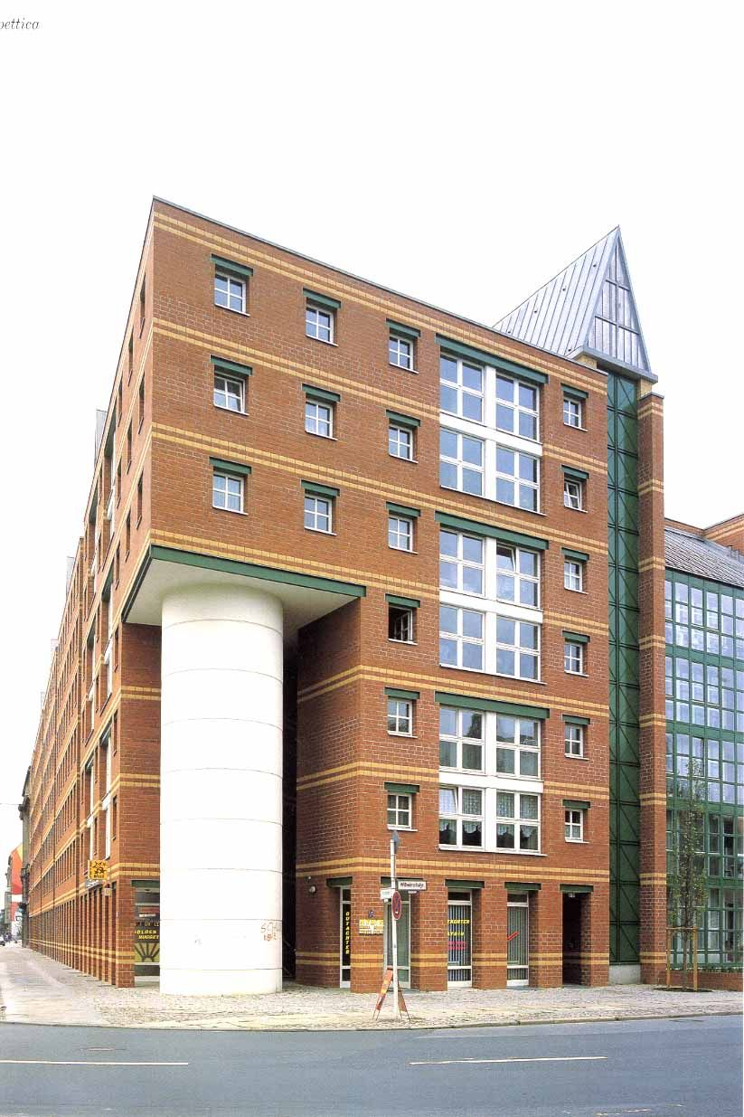 aldo rossi edificio de viviendas friedrichstadt berl n alemania 1981 88 edificios. Black Bedroom Furniture Sets. Home Design Ideas