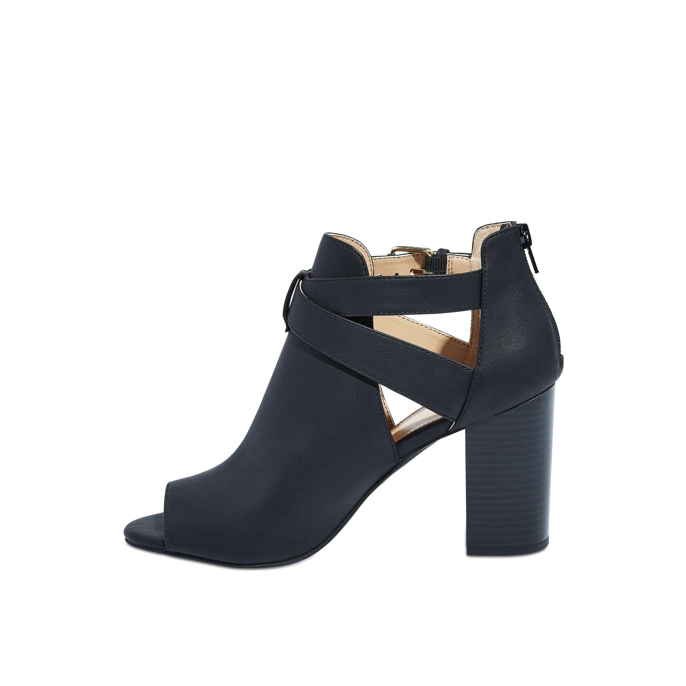 0f761b5324d2 Joe Fresh Open Toe Block Heel Booties - Black 10