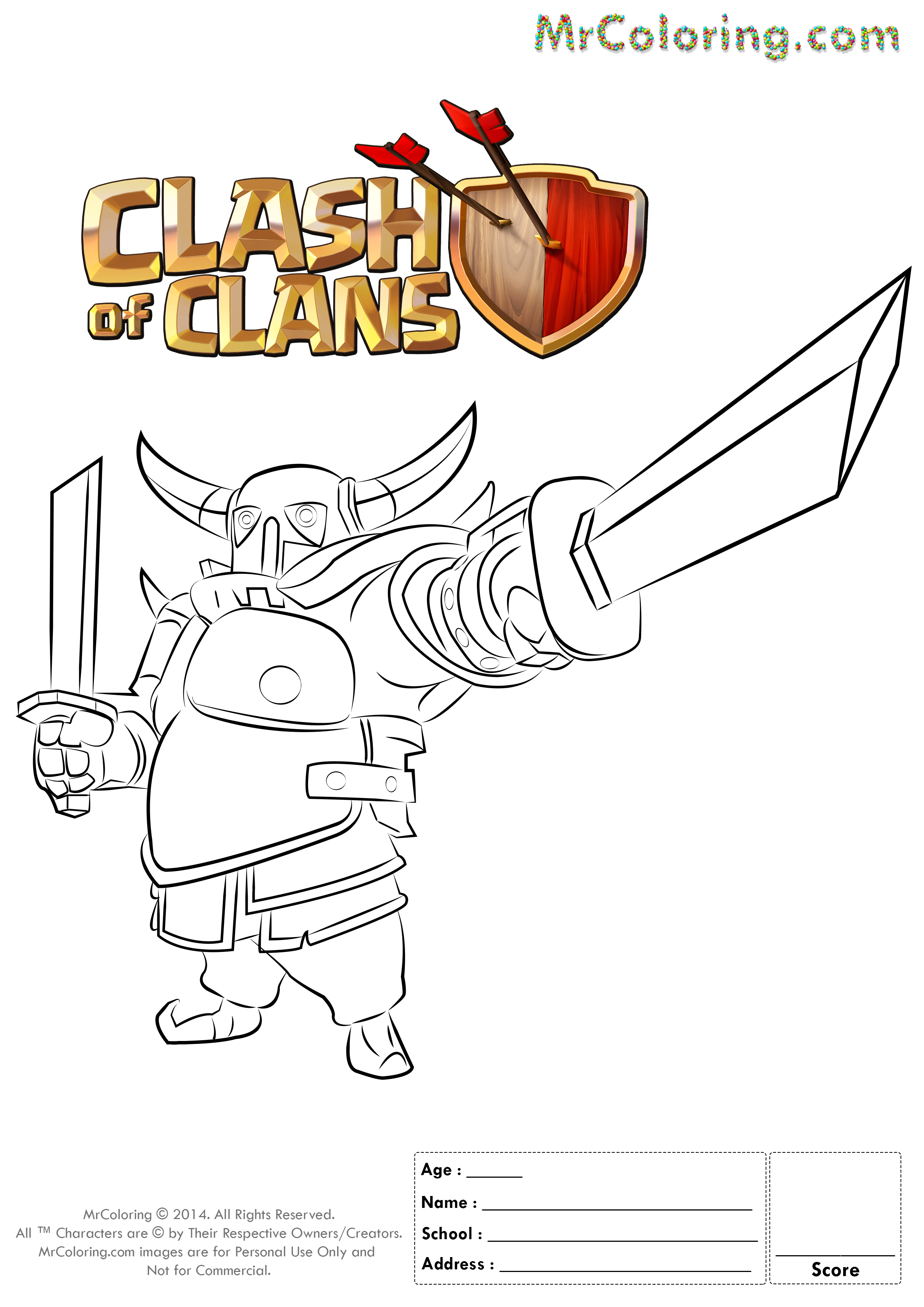 clash of clans coloring pages  4 (24×08