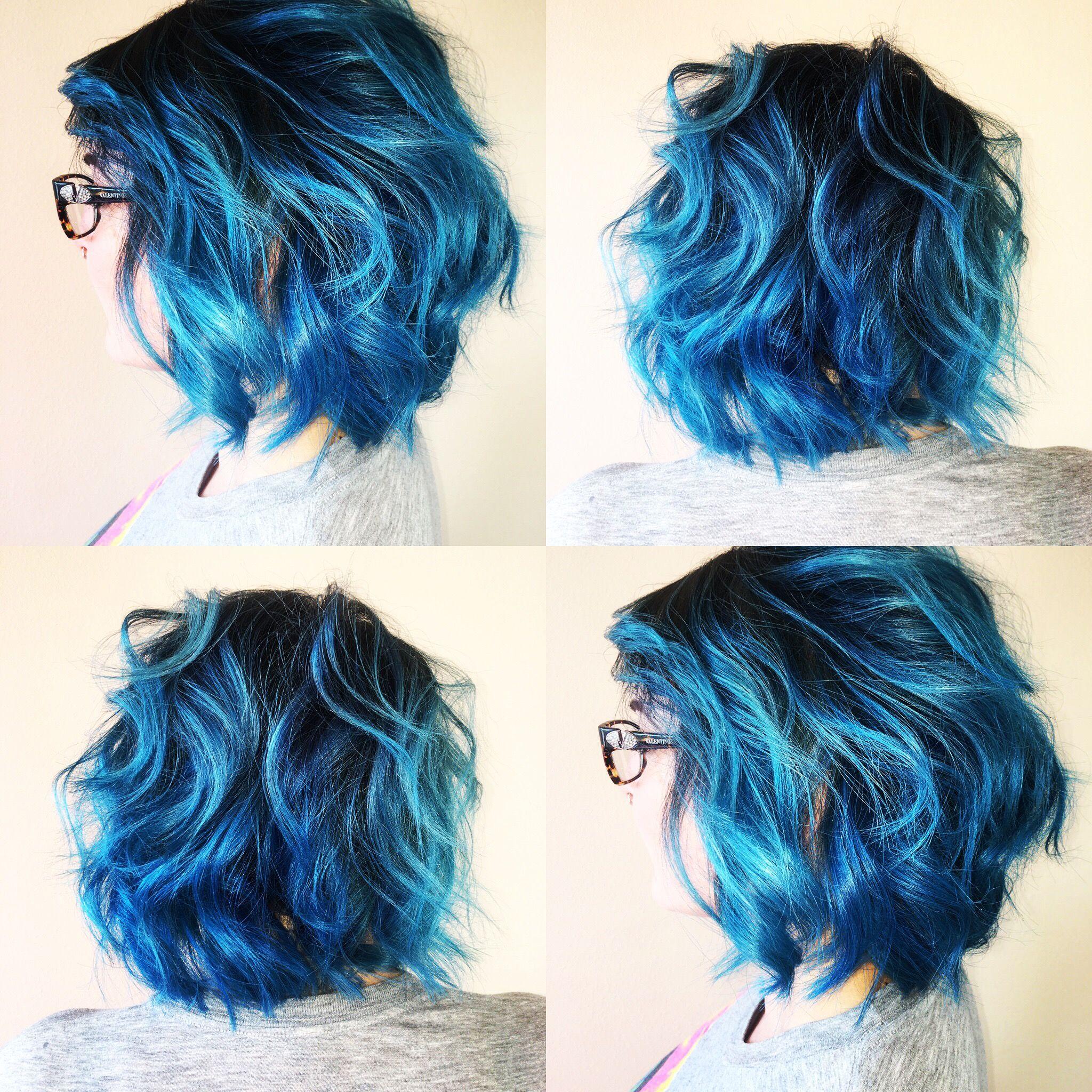 Halohairbysarah Shadowroot Bluehair Pravana Vivids Blonde Hair With Roots Dark Roots Blonde Hair Cool Hair Color