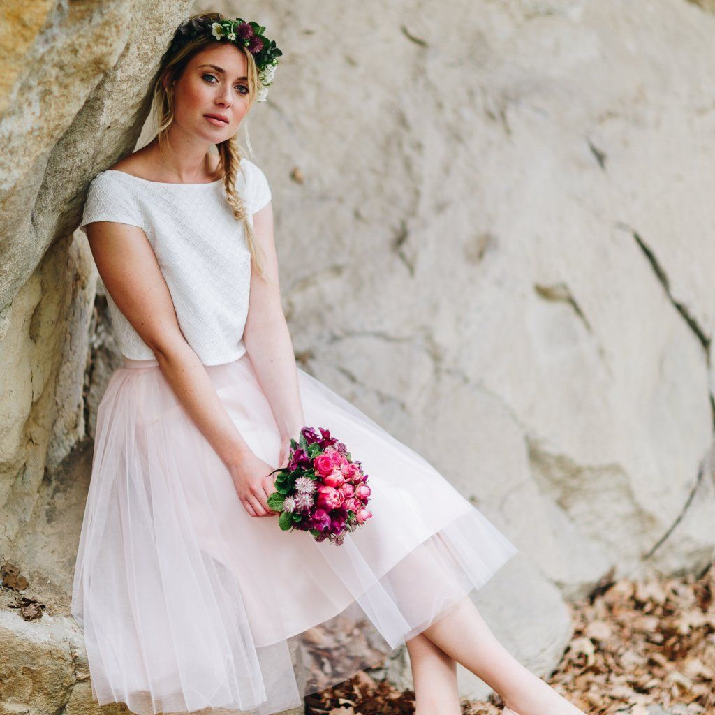 Tüllrock zur Hochzeit   Pinterest   klassisches Brautkleid, Tüllrock ...