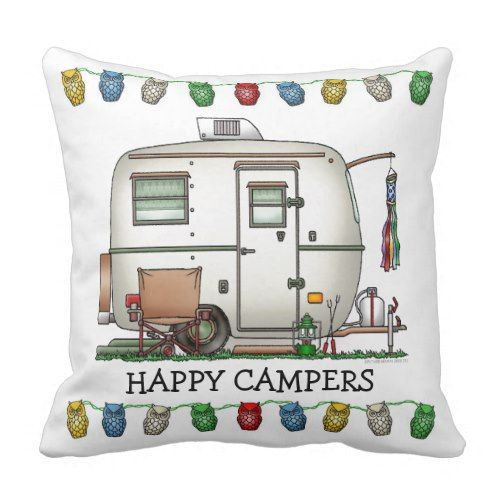 Cute Rv Vintage Glass Egg Camper Travel Trailer Throw
