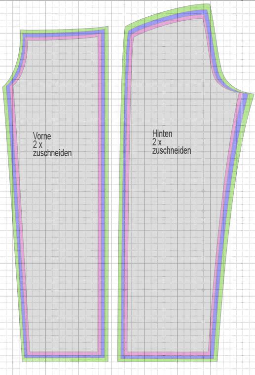 Photo of Wellnesshose Schnittmuster auf Karopapier 2x2cm, große Karos 10cm übertragen
