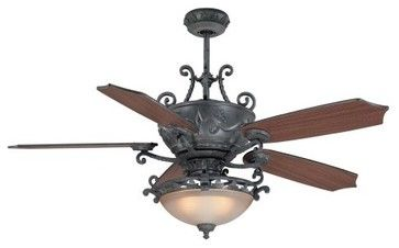 Wrought Iron Ceiling Fan Ellington Bar56ams5cwr Barcelona 56 In
