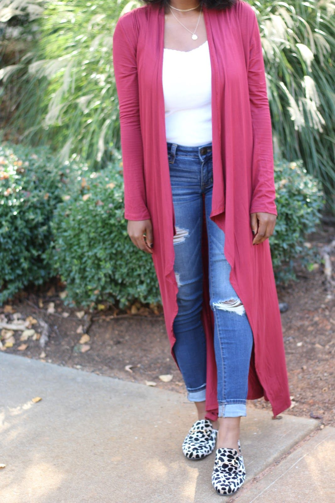 Red Duster Cardigan, Leopard Mule Flats | Happiness, Joi & Gloss ...