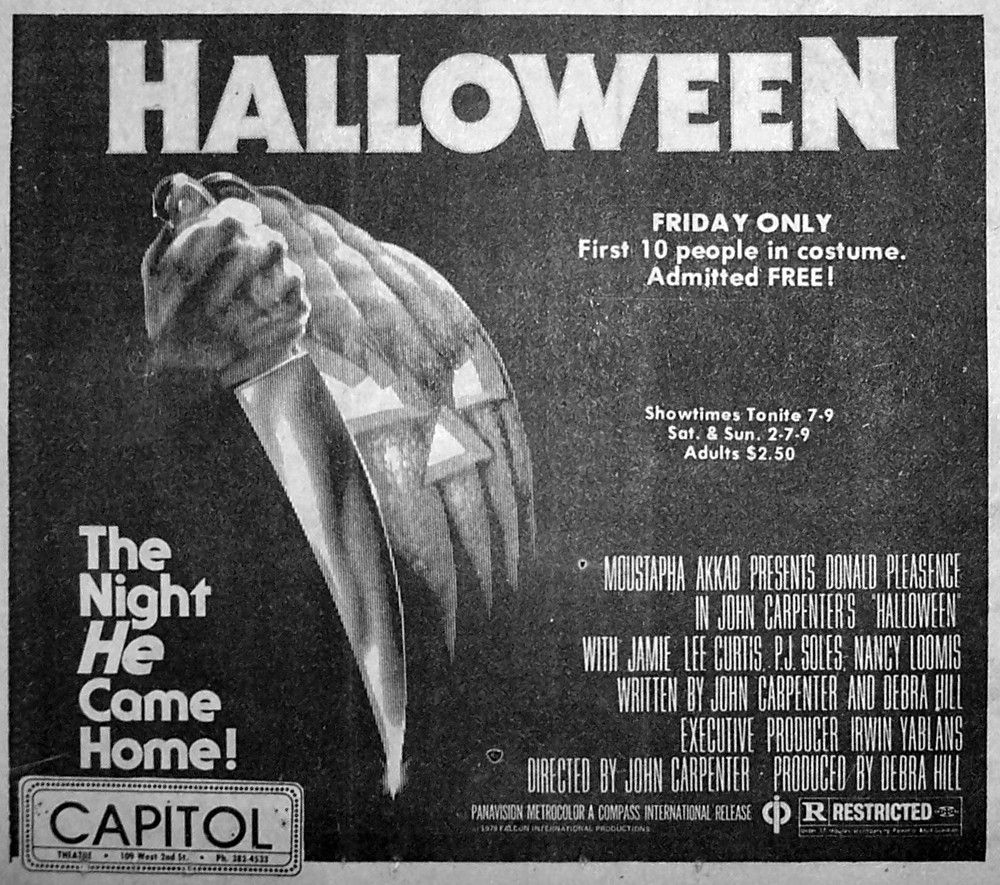 Halloween (1978) Dir. John Carpenter Newspaper Ad