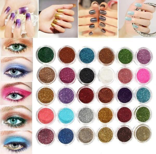 30 Colors Pro Makeup Glitter Powder Eyeshadow Pigment Eye Shadow Cosmetic Nail Art DIYMakeupfromHealth,Beauty & Hairon banggood.com
