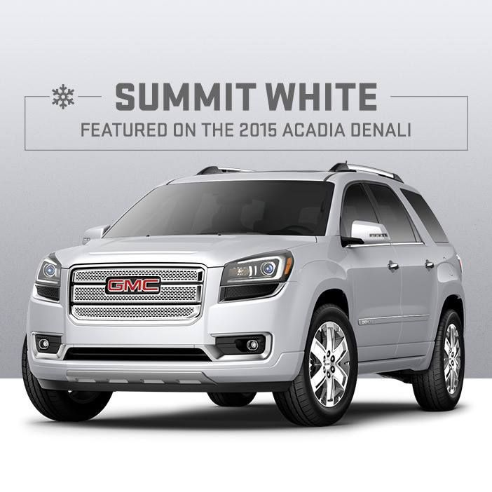 Acadia Summit White Or Snow Day Camouflage Gmc Acadia Cool