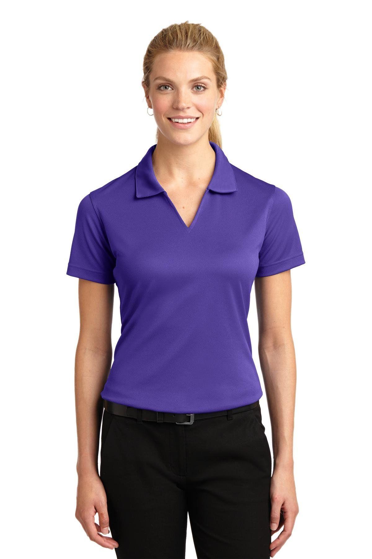 Women Golf Clothing SportTek Womens Dri Mesh V Neck Polo
