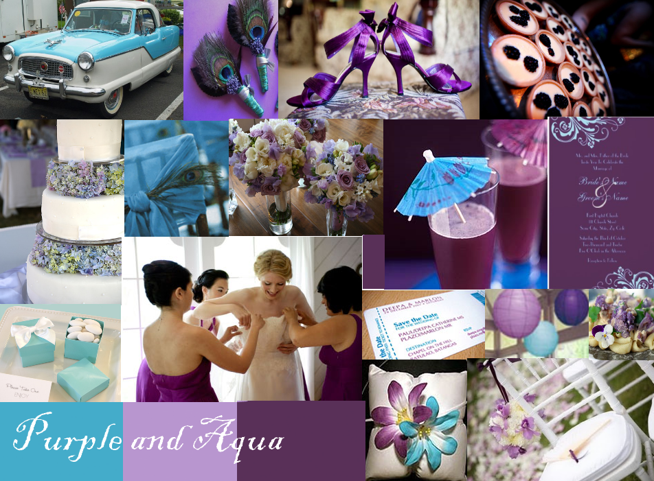 Purple tropical wedding theme   because it is so visually stunning ...