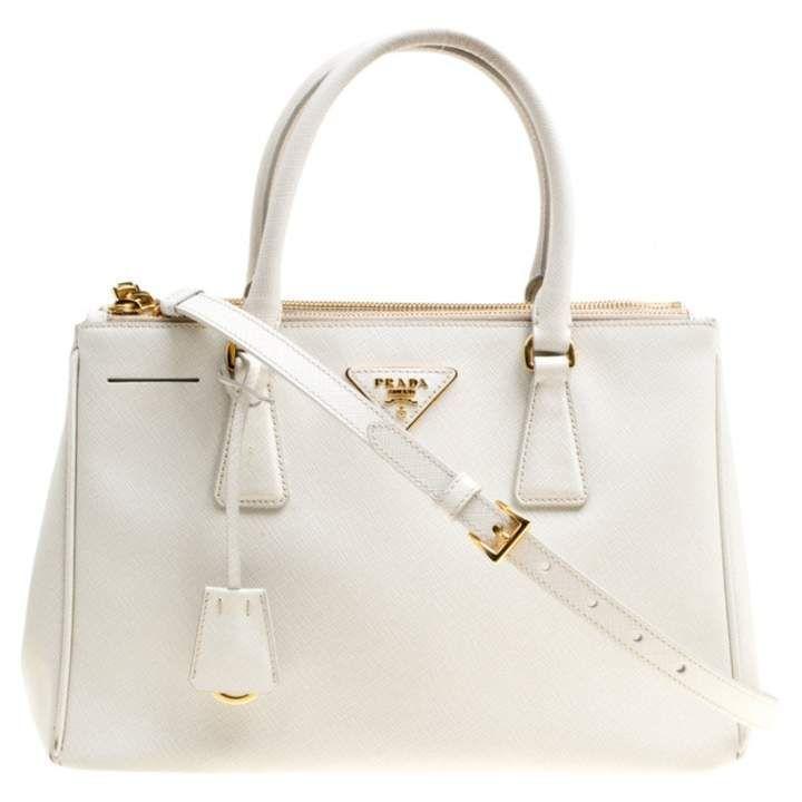d95f76f0f7b6fb Prada Galleria White Leather Handbag #whiteleatherhandbags   Purses ...