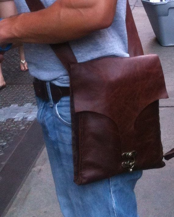 I pad leather case handmade and hand stitched / by NadiraBag, $126.00