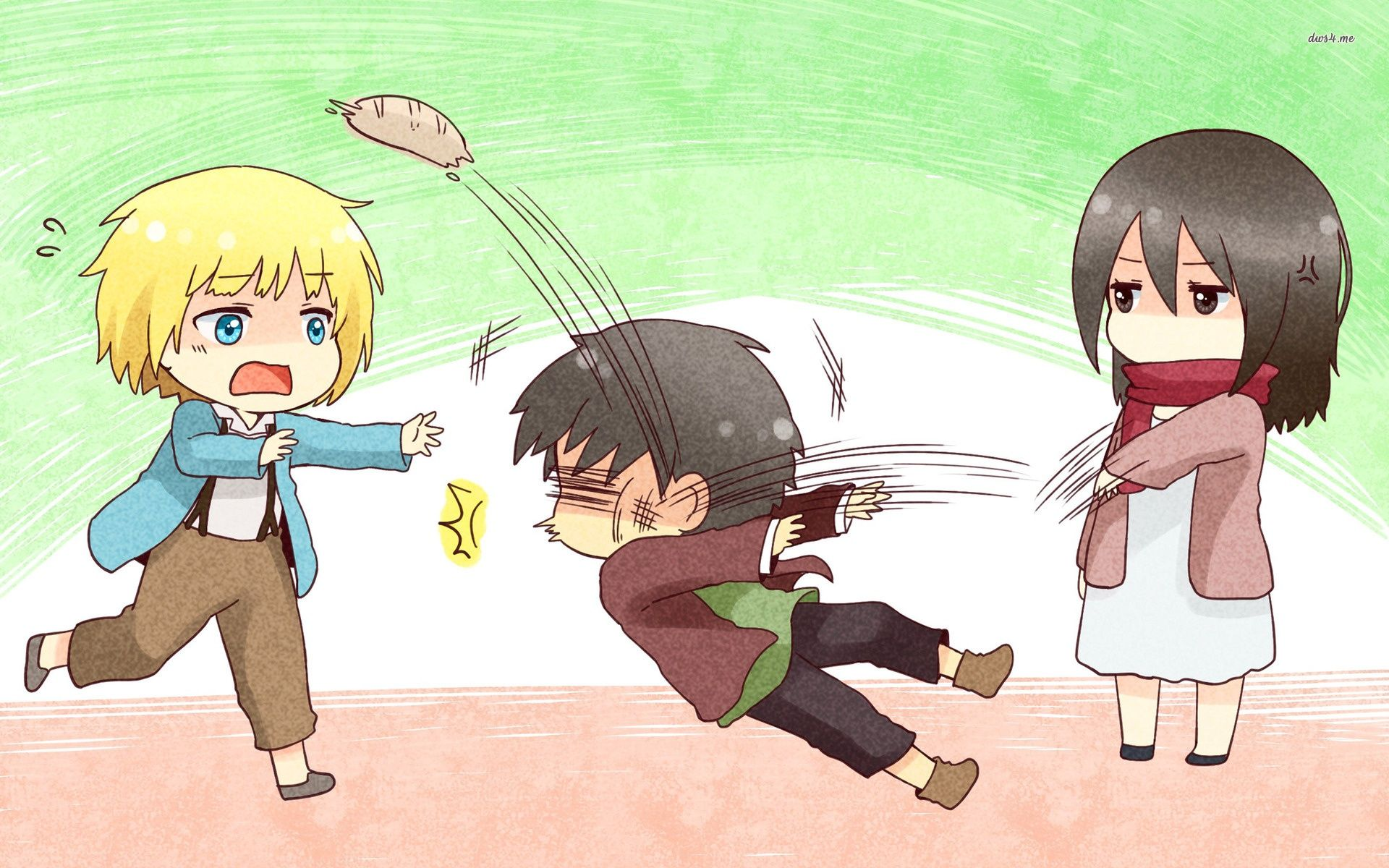 exactly Chibi wallpaper, Attack on titan, Attack on