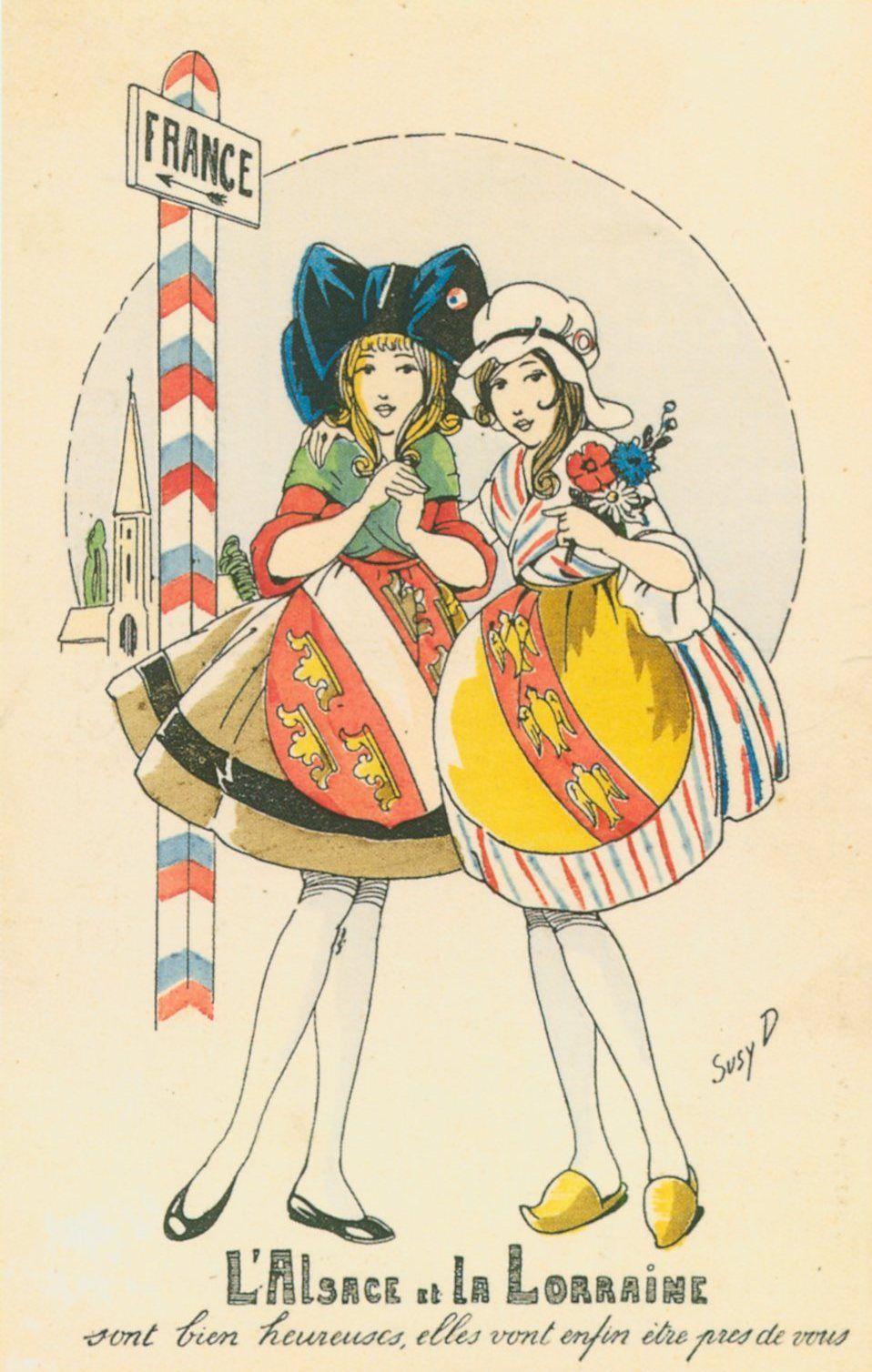 Carte Postale Alsace Humour.Carte Postale Postcard 1914 1918 L Alsace Et La Lorraine