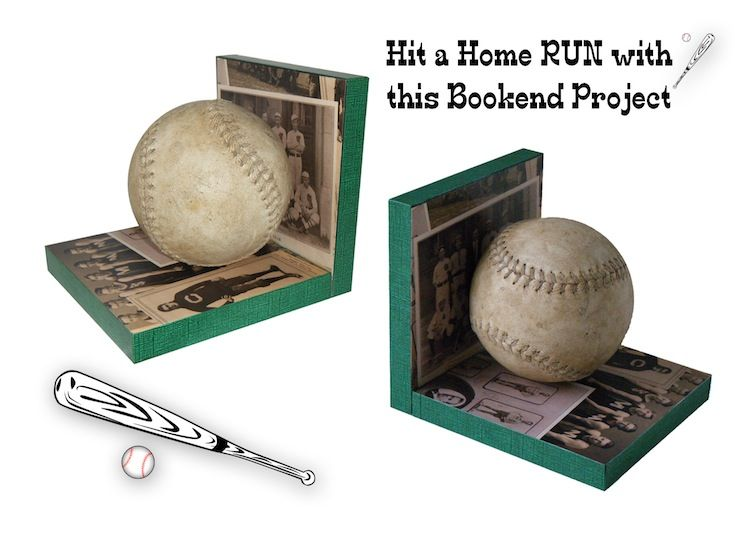 These DIY Baseball bookends make a great gift for a sports fan (Father's Day!), or kids' room decor.