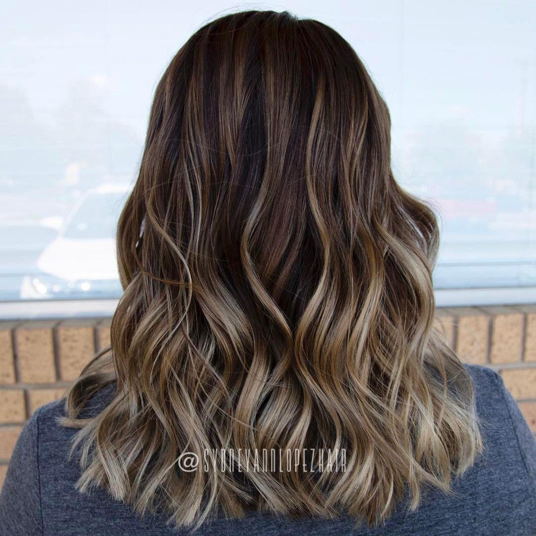 Walnut Base Balayaged Blondes Natural Hair Color Blondes