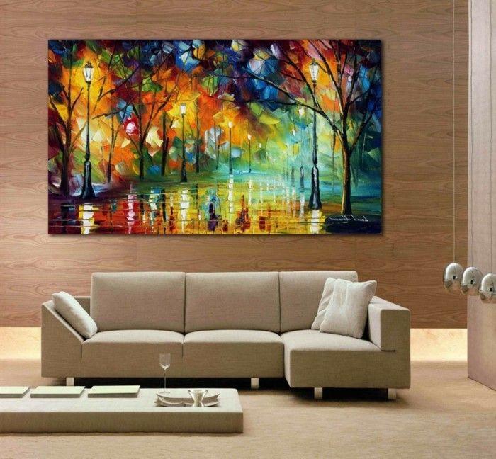 Ideal Wandbilder Wohnzimmer Ideen wie Sie die Wohnzimmerw nde mit Wandbildern dekorieren