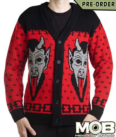 Krampus The Christmas Devil Cardigan Devil, Middle and Acrylics
