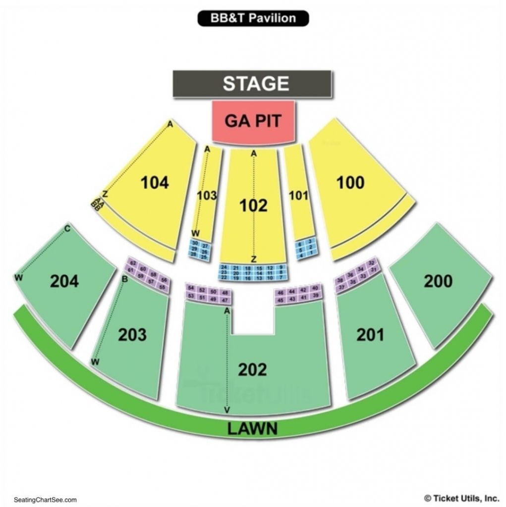 Bb T Pavilion Seating Chart With Seat Numbers Di 2020