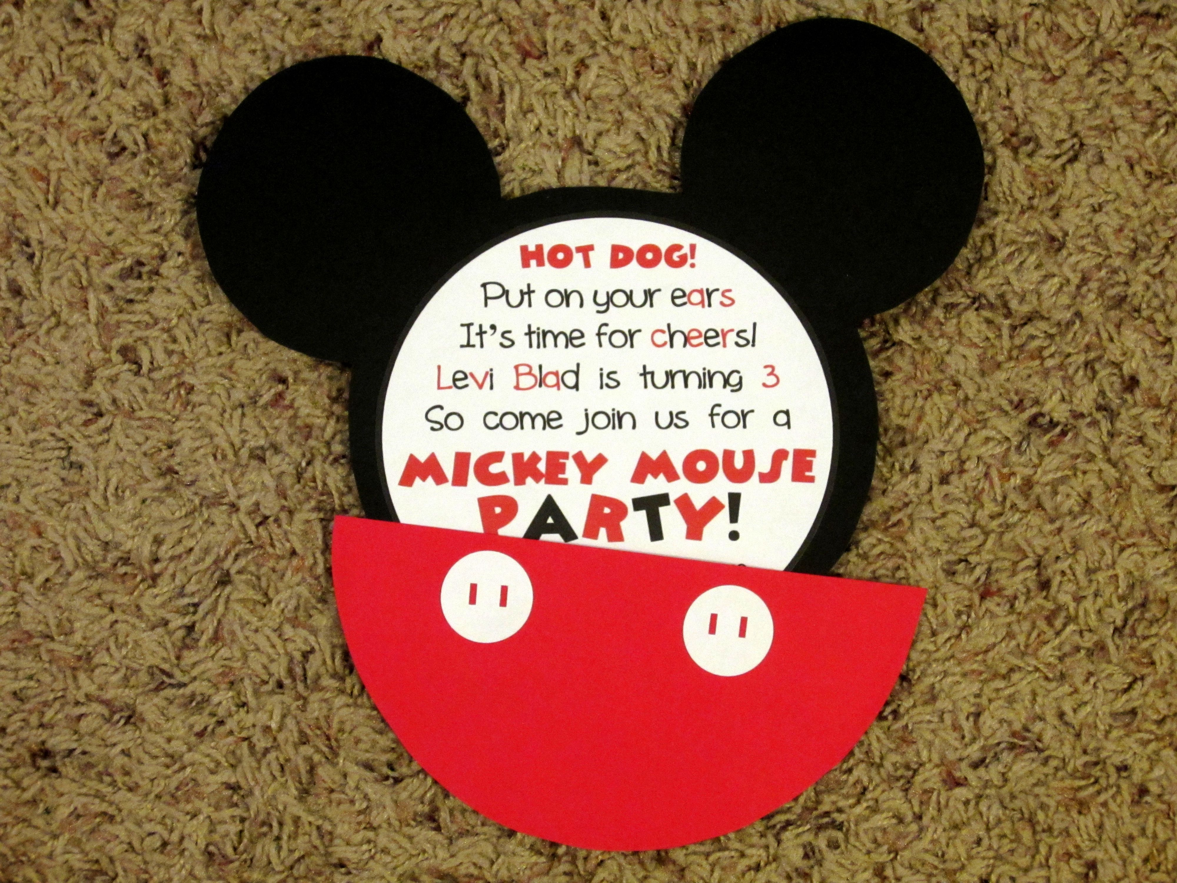 Mickey Mouse Invitations Party Ideas