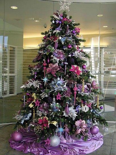 Immagini Glitterate Di Natale.Albero Di Natale Con I Glitter A Purple Christmas Alberi